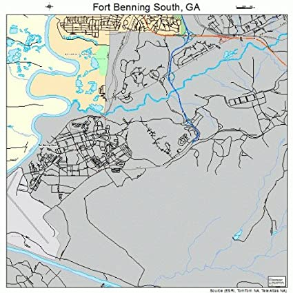 Amazon.com: Large Street & Road Map of Fort Benning South, Georgia ...