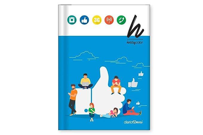HOBBY COLOR Diario agenda SOCIAL escuela niño niña 12 meses ...