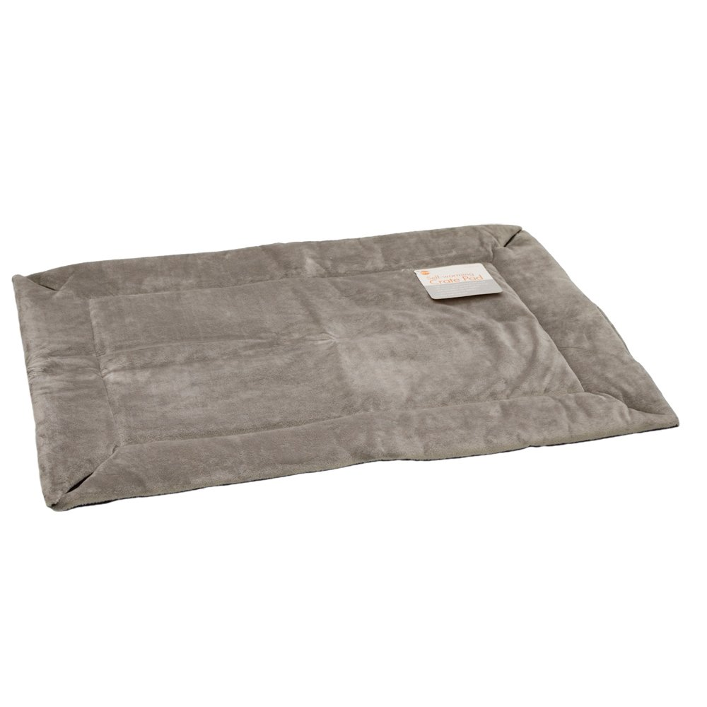 K&H Manufacturing Self-Warming Pet Crate Pad, 21-Inch by 31-Inch, Gray 7922