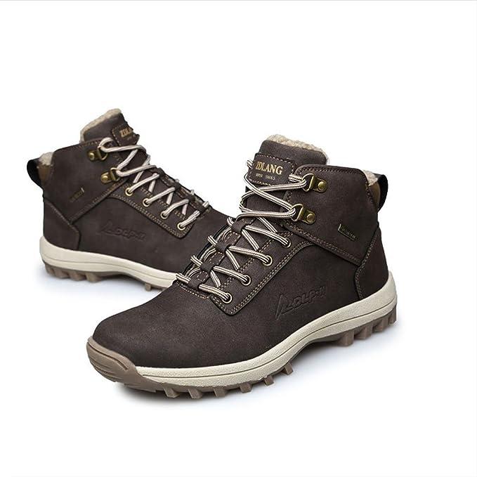 Uomo inverno outdoor impermeabile antiscivolo High rise lace-up trekking trekking escursioni scarpe da arrampicata / stivali da neve , black ,…