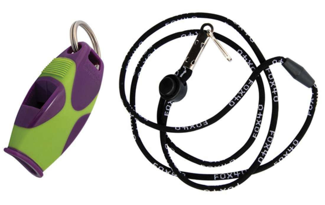 Fox 40 Sharx Whistle With Lanyard Referee Coach Outdoor Safety Dog Green
