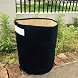 Amgate 2-Pack 10 Gallon Potato Planter Daul Layer Vegetables Growing Bag Patio Recycled Tub, Black