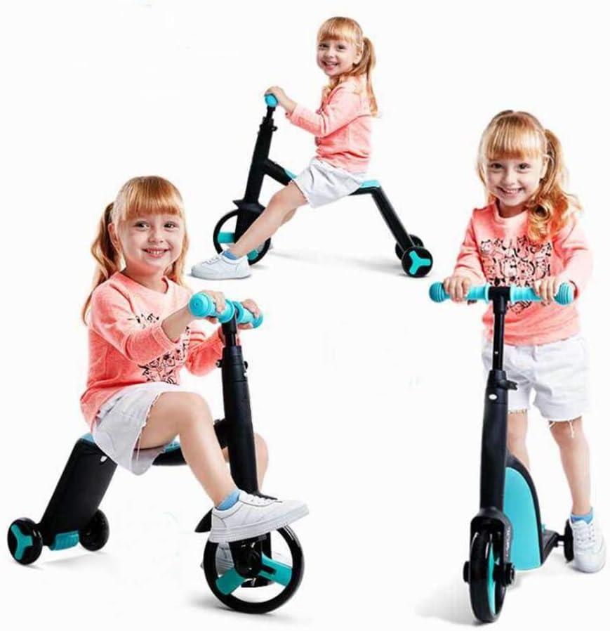 Bicicletas de Triciclo para niños, Scooter para niños Trike Baby 3 en 1 Balance Bike Ride On Toys Kids Gift