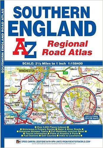 A Z Map Of England.A Z Southern England Regional Road Atlas Geographers A Z