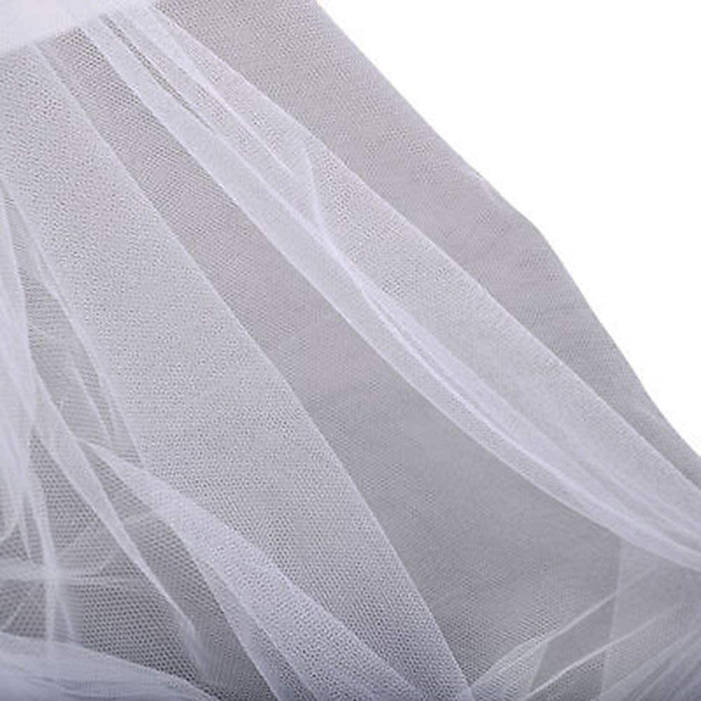 Crystallly 4 Openings Post Bed Sky Mosquito Net Full Queen King Simple Style Size Net Curtains Polyester White One Size Color : White, Size : Size