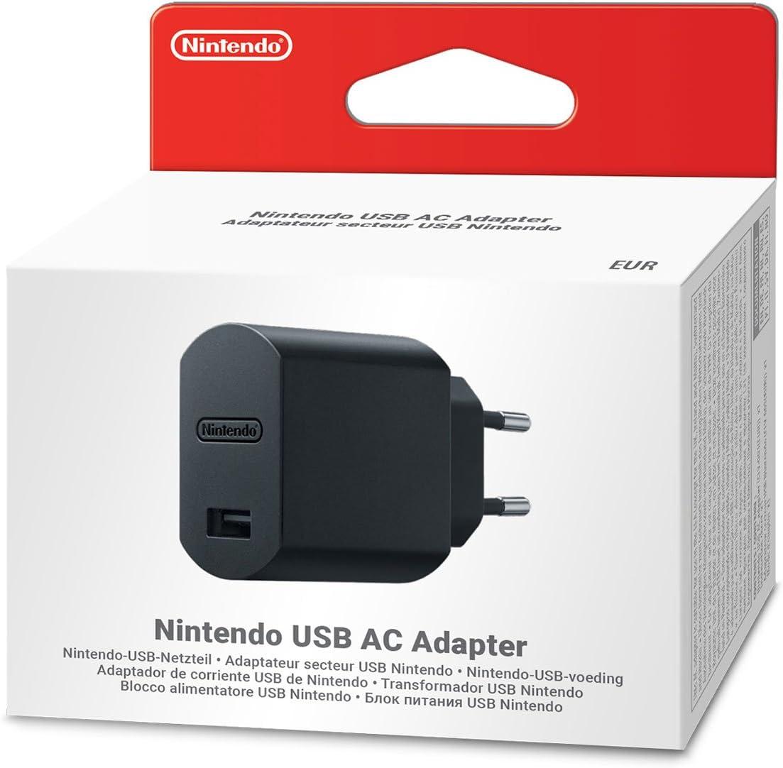 Nintendo Adaptador de Corriente USB: Amazon.es: Videojuegos