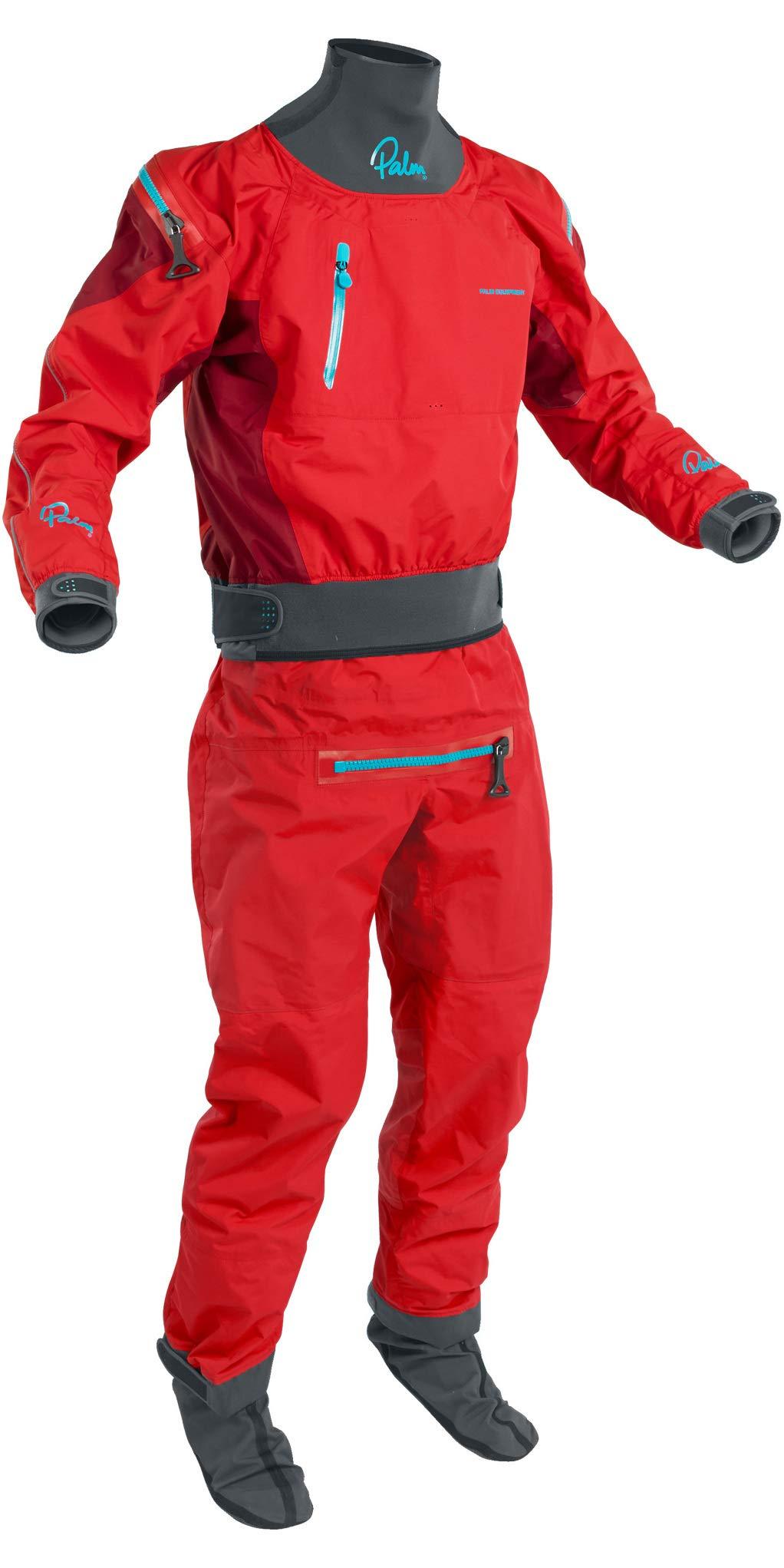 Palm 2019 Mens Atom Back Zip Kayak Drysuit + CON Zip Flame/Chilli 12380 Drysuit Size - S by Palm