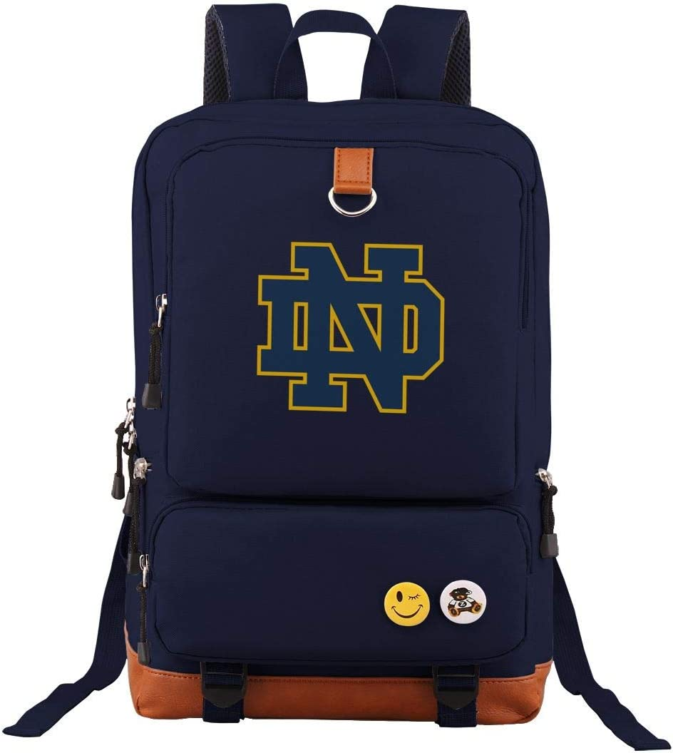 Notre_Dame Students Travel Laptop Backpack Business Anti Theft Slim Durable Laptops Travel Computer Bag Navy