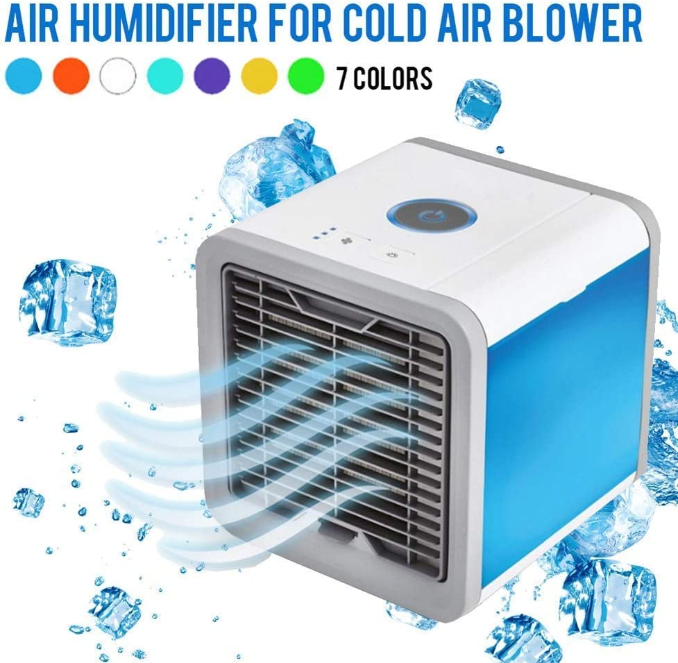 B07TX161FX RUIY Portable Air Cooler Air Conditioner Personal Space, 3 in 1 Mini Air Cooling Device Space USB, Humidifier, Purifier, Fan Table Cooling Outdoor Family Office 61mkbWajDdL