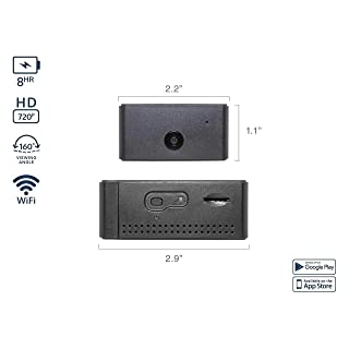 Camscura WiFi Wireless Hidden Camera - Top HD Security Surveillance with Text Alerts and Live Streaming