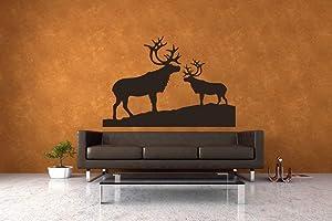 Reindeer Antler Wilderness Decor Deer Wall Art Wall Decal Wall Decor Lodge Decor Rustic Wall Art Vinyl Decal Vinyl Decor Home Decor Made in USA