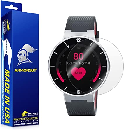 ArmorSuit Alcatel Onetouch Smartwatch Screen Protector (2 Pack) Full Coverage MilitaryShield Screen Protector for Alcatel Onetouch Smartwatch -HD ...