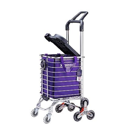 DS TrolleyⓇ Remolque/carro plegable/Carro cuadrado portátil de seis ruedas /Carro