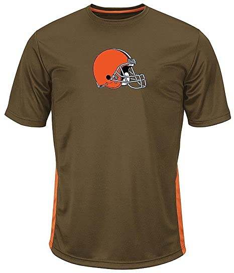 188349d46 Majestic Cleveland Browns NFL Mens To The Limits Shirt Brown Big   Tall  Sizes (2XT