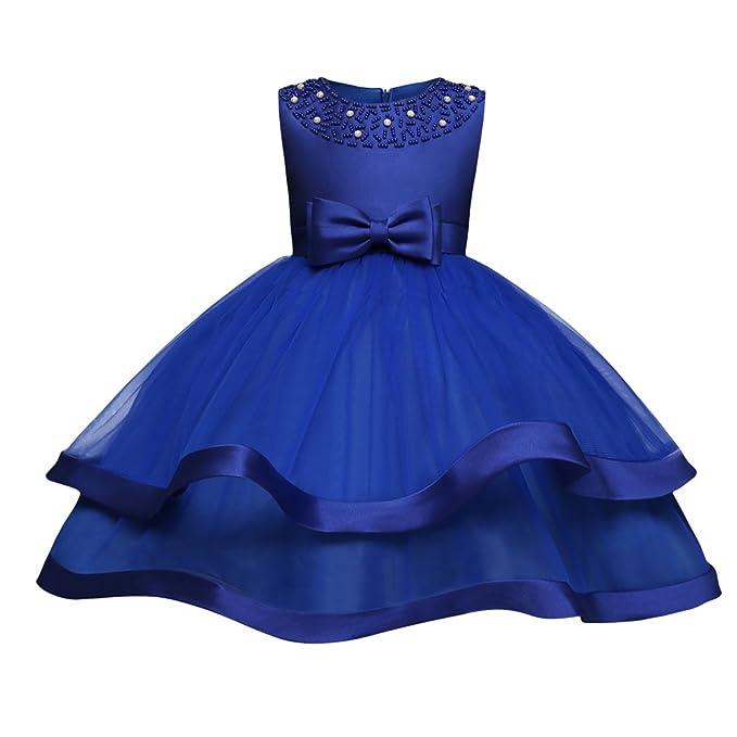 Yiiquanan Vestido de Fiesta de Princesa Tul Diseño en Capas Sin Mangas Vestidos de Baile Color