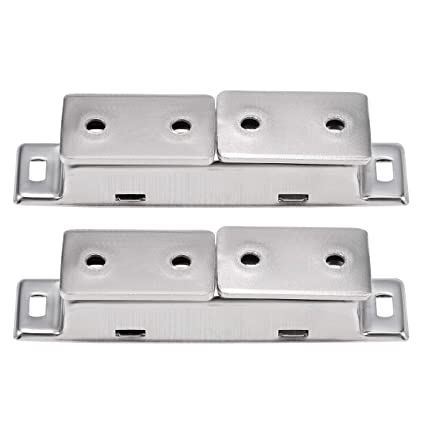 uxcell Door Magnetic Catch High Magnetic Stainless Steel Heavy-duty Catch Latch for Kitchen Bathroom Cupboard Cabinet Door Drawer 2pcs