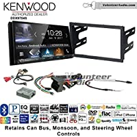 Volunteer Audio Kenwood DDX9704S Double Din Radio Install Kit with Apple Carplay Android Auto Fits 2003-2005 Volkswagen Golf, Jetta, Passat with Amplified Systems
