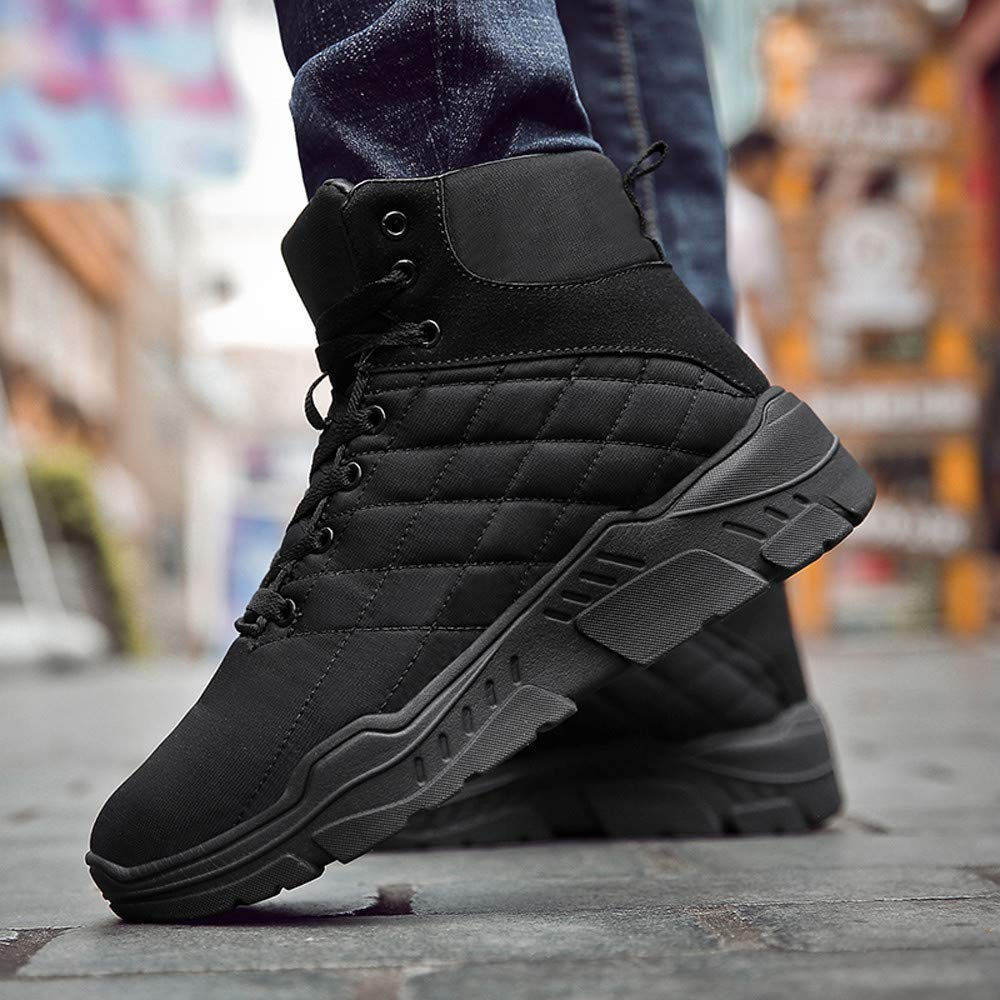 Winter Mens Casual Keep Warm Shoes Wear Resistant Thick Bottom Motorcycle Boot Pandaie-Mens Shoes