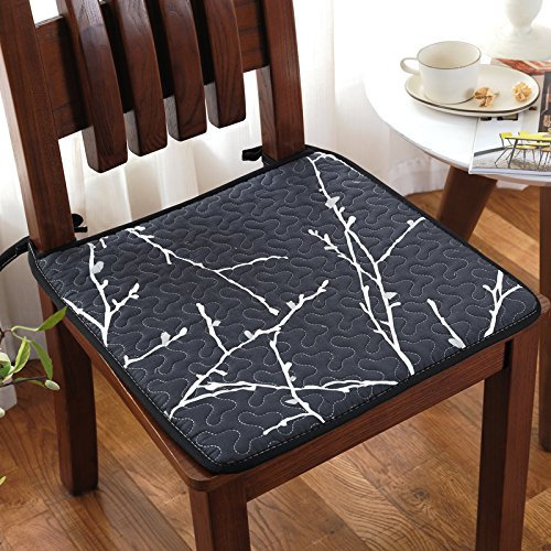 Price comparison product image CLG-FLY Summer Cloth Chair Cushion Cushion Antiskid Thickening Office Four Thin Section Chair Pad Student Stool Pad, 50X135Cm Car Backseat Black