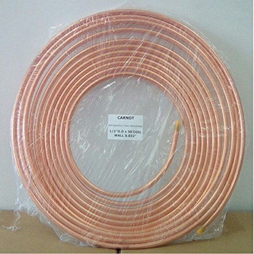 1/2 in ''. x 50 ft. Copper Soft Type Refrigeration Pipe/Tubing by Wieland Carnot