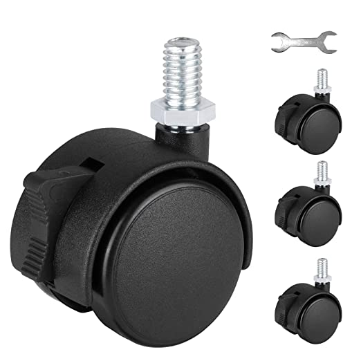 Wheels Replacement PVC Roller Wheel for Trolley Chair Caster Rubber Wheel Chair 4Pcs 3 Inch Swivel Casters Furniture Parts Furniture Hardware Xuulan Xianglaa-Wheel casters