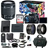 Canon EOS Rebel T6i DSLR Camera with 18-55mm Lens Video Creator Kit and Accessory Bundle