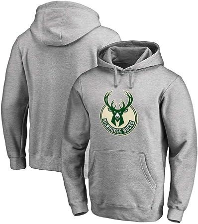 JOEY Camiseta De Sudadera De Baloncesto Bucks Letter Sudadera De Baloncesto con Capucha De Terciopelo Brother Plus,S: Amazon.es: Hogar