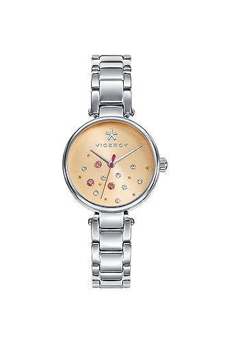 Viceroy Reloj Analogico para Mujer de Cuarzo con Correa en Acero Inoxidable 471116-99: Amazon.es: Relojes