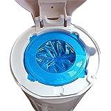 genkent Diaper Pail Refill Bags Snap, Seal,12 Bags,Blue