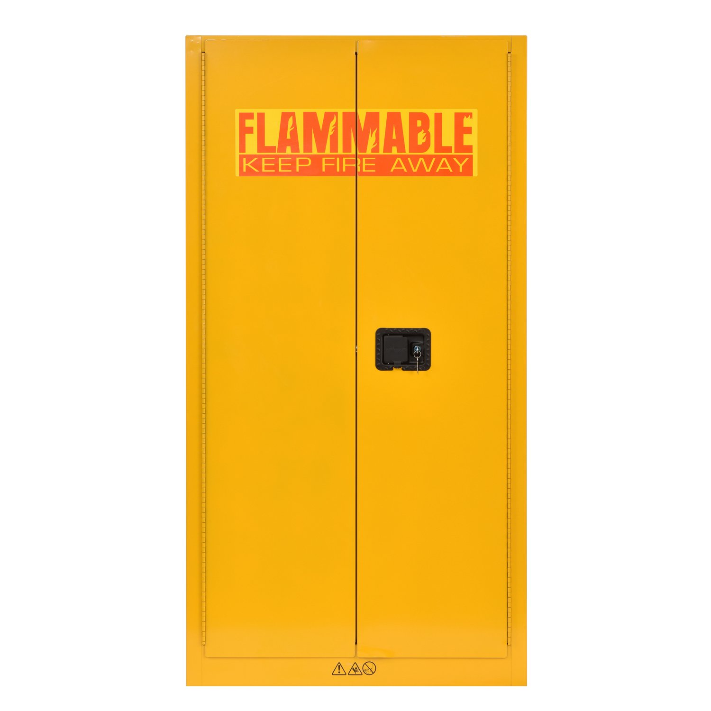 Sandusky Lee SC600F Flammable Liquid Safety Storage Cabinet 60 gal, 65'' Height, 34'' Width, 34'' Length,