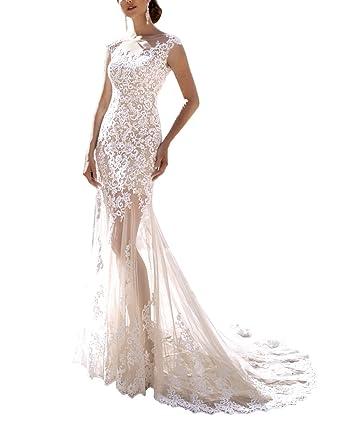 2509aa70cacdf Kevins Bridal Vintage A-Line Wedding Dress 2017 Cap Sleeve Lace Wedding  Gowns Detachable Train