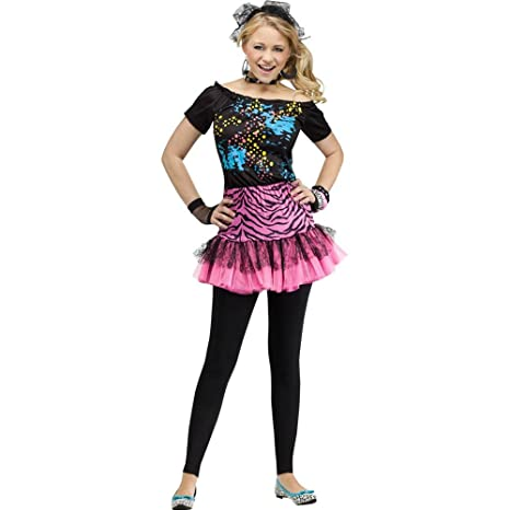 bf5254b294 Amazon.com  80s Pop Party Diva Teen Costume  Toys   Games