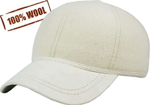 85832f564ed KBW-09 WHT Wool Felt Solid Baseball Hat Cap  Amazon.ca  Sports ...