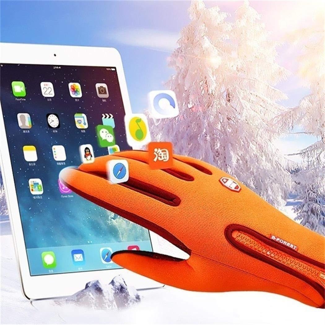 gensit Guanti per touchscreen con cerniera per ciclismo invernale per escursionismo sportivo impermeabile impermeabile Guanti