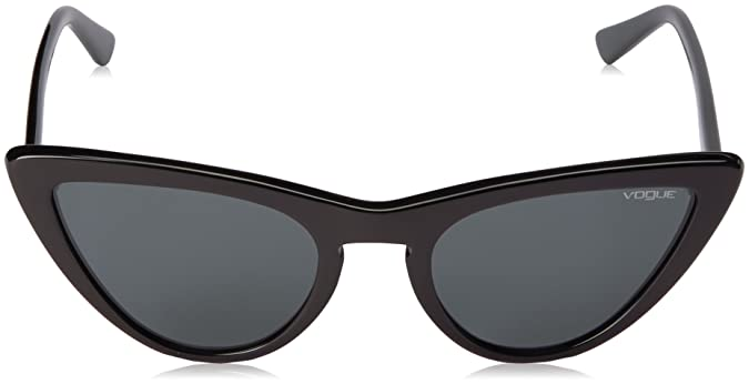Vogue Womens Special Collection by Gigi Hadid VO5211S Cat Eye Sunglasses, Black /Grey, 54 mm