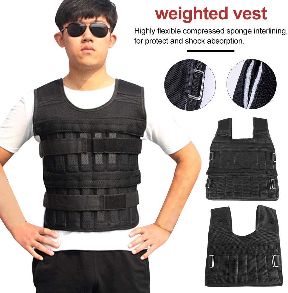 35 kg a sto/ßfest nicht null 5 kg 5kg Wie abgebildet mit mehreren Taschen 15 kg Matedepreso Gewichtsweste verstellbar