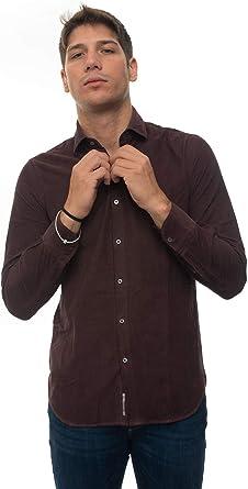 Brooksfield Camisa Casual Burdeos algodón Hombre Bordeau 37: Amazon.es: Ropa y accesorios