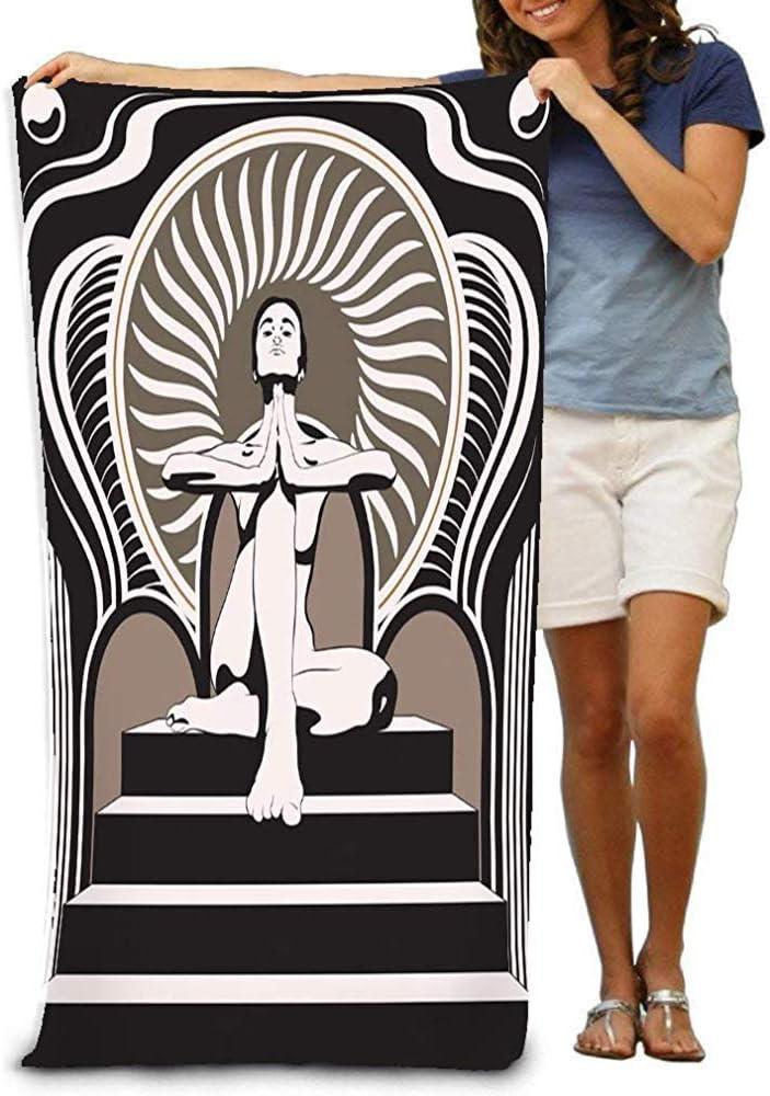 Jesse Tobias Toallas Baño Mujer Pose Yoga Escalera Toallas Playa: Amazon.es: Hogar