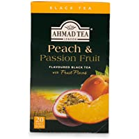 AHMAD TEA Peach and Passion Fruit Black Tea, 20 Count