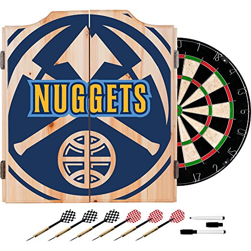 Trademark Gameroom NBA7010-DN2 NBA Dart Cabinet Set with Darts & Board - Fade - Denver Nuggets by Trademark Global