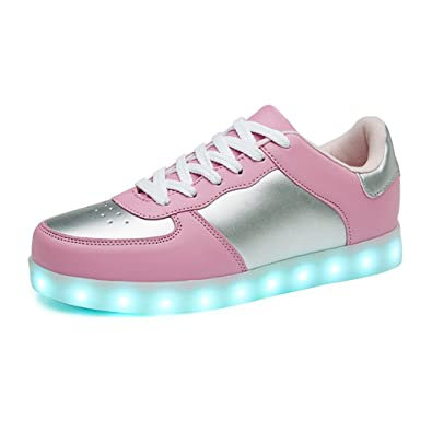 eb59741f3f859 Amazon.com: Sanyes USB Charging Light Up Shoes Sports LED Shoes ...