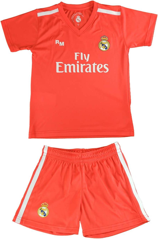 Kit Camiseta y Pantal/ón Junior Real Madrid Courtois 25 R/éplica Autorizada