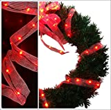 Cosmo Lighting 18ft Long LED Ribbon Lights, 1.25 inch width, 108 LEDs in Red Color
