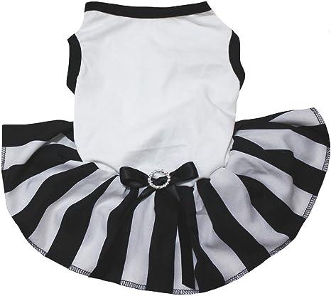 Pretty white and black dress dog dress