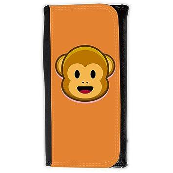 Cartera para hombre // Q05210623 Monos emoji 1 Naranja de cadmio // Large Size Wallet: Amazon.es: Electrónica