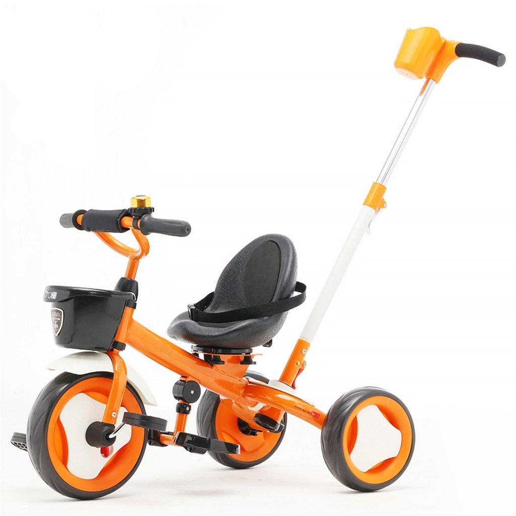 KANGR-子ども用自転車 子供用三輪車カートベビーキャリッジ子供用自転車3輪 ( 色 : オレンジ ) B07BTZF2CYオレンジ