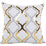 wintefei Throw Pillow Case Gold Foil Printing Cushion Cover Decorative Sofa Bed