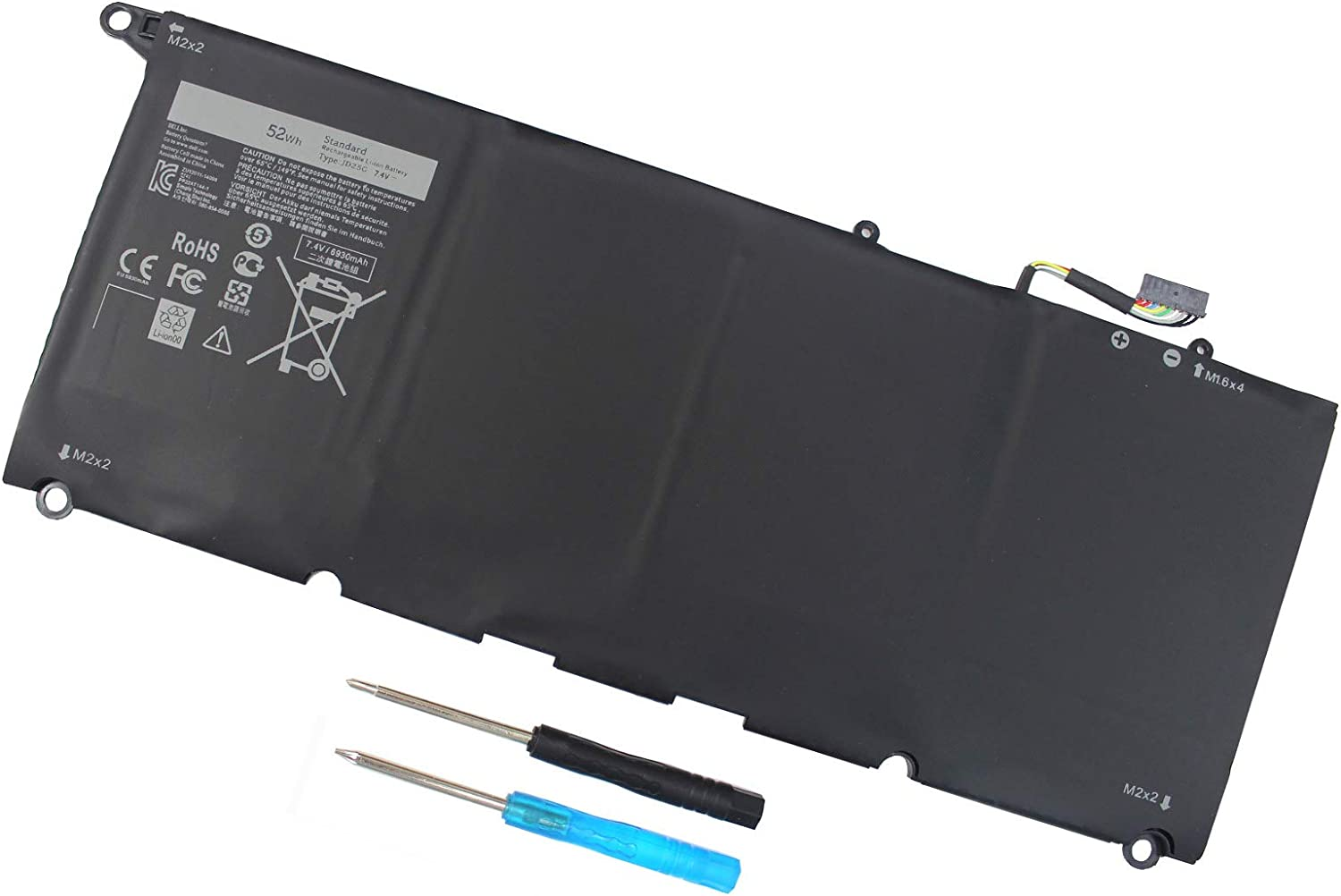JD25G Laptop Battery for Dell XPS 13 9343 13 9350 Ultrabook P54G P54G001 P54G002 RWT1R 0RWT1R 0DRRP 0N7T6 DIN02 JHXPY 0JHXPY 0N7T6 00N7T6