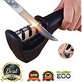 FLYNGO Manual Knife Sharpener 3 Stage Sharpening Tool for Ceramic Knife and Steel Knives