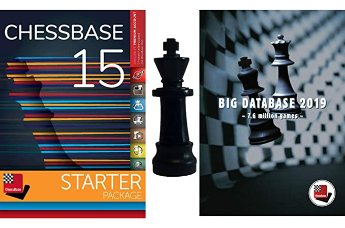 ChessBase 15 - Starter Package: ChessBase 15 Chess Database Management  Software Program bundled with Big Database 2019 and ChessCentral's Chess  King